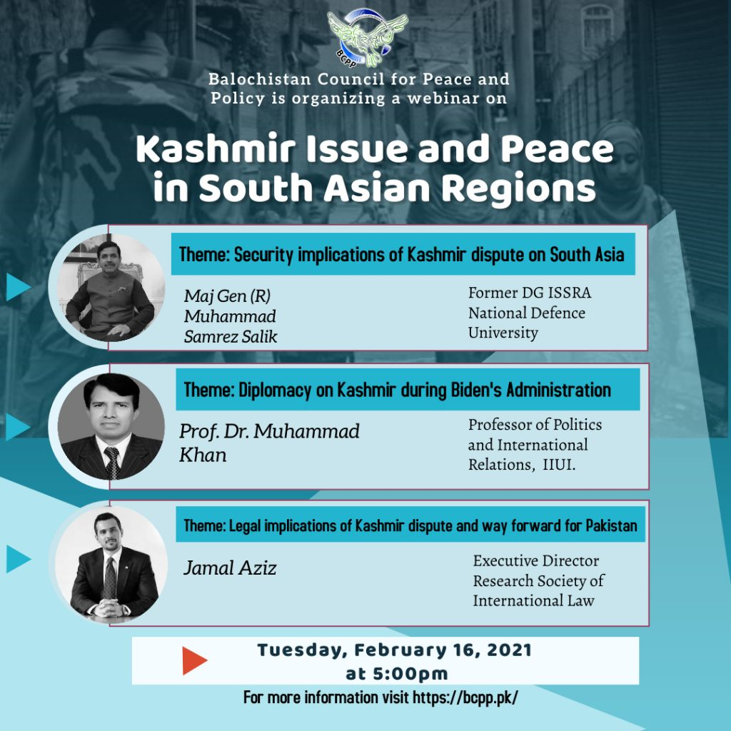 Kashmir Issues and Peace in South Asian Regions